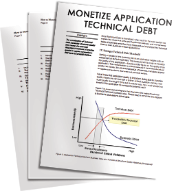 How to monetize application technical debt