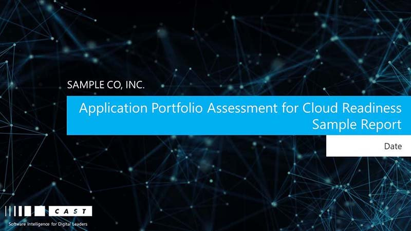 Application Portfolio Assessment for Cloud Readiness