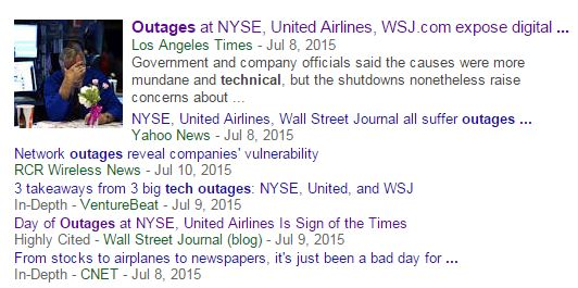 Software Failure Headlines